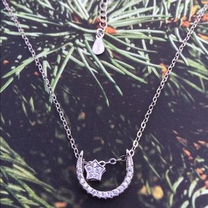 Sterling Silver Star Moon Necklace